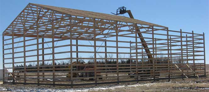 Post frame madrona post frame engineering for Post frame building plans